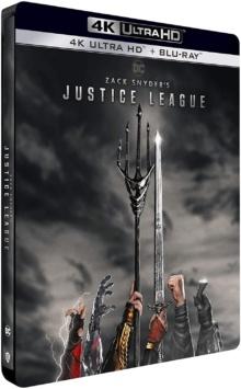 Zack Snyder's Justice League (2021) de Zack Snyder – Édition Steelbook – Packshot Blu-ray 4K Ultra HD