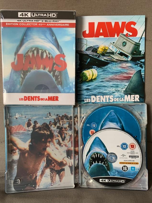 Les Dents de la mer (1975) de Steven Spielberg – Édition 45e anniversaire – Boîtier SteelBook Collector – Unboxing