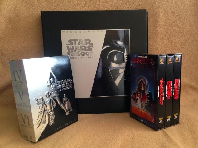 Star Wars - Trilogie VHS, DVD et LaserDisc