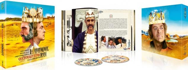 L'Homme qui voulut être roi - Packshot Blu-ray ouvert