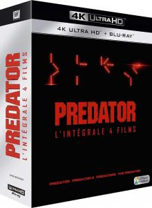 Predator – L'intégrale des 4 films – Packshot Blu-ray 4K Ultra HD