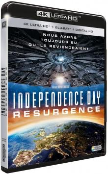 Independence Day : Resurgence (2016) de Roland Emmerich - Packshot Blu-ray 4K Ultra HD