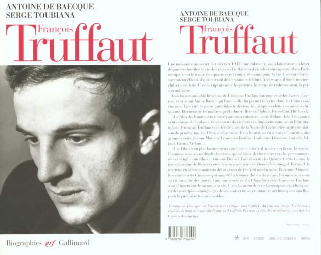 Cover livre François Truffaut