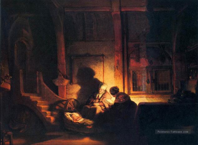 La nuit de la sainte famille - Rembrandt