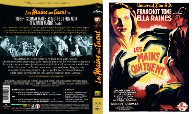 Les Mains qui tuent - Jaquette Blu-ray 2D