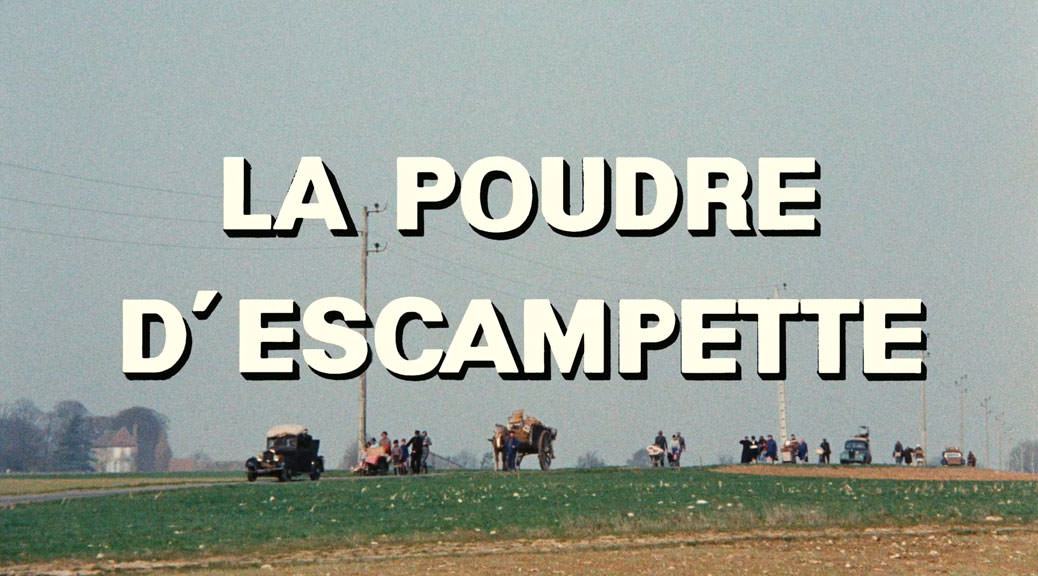 La Poudre d'escampette - Image une test Blu-ray
